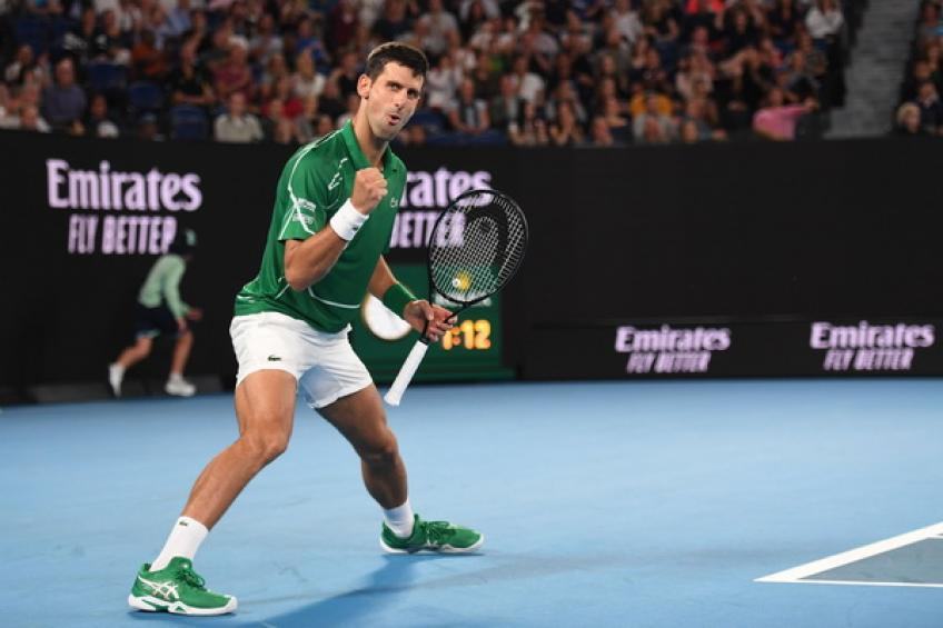 Open d'Australie: Novak Djokovic bat Jan-Lennard Struff en quatre sets